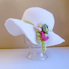 CROCHET PATTERN in PDF format.  Who needs a lovely Easter hat? //  IT IS SOOO SWEET!  MUST MAKE!!! A