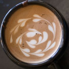 Spiraling Hearts Coffee Art Design // Creative 3D Coffee Latte Art Pictures, Images & Designs