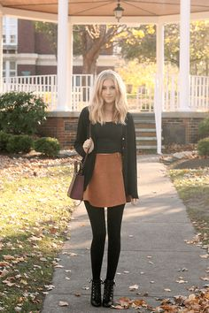 25 Fall Outfits with Skirts to Inspire Your Fall Look