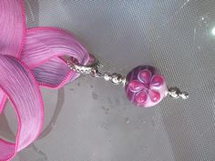 soft glass, silk ribbon Silk Ribbon, Tassel Necklace, Tassels, Beads, Jewelry, Fashion, Beading, Moda, Bead