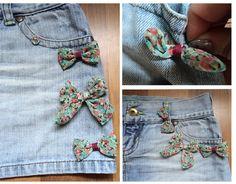 jupe jean customisee