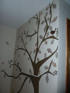 Beautiful hand painted wall mural by my artistic niece,  Krista