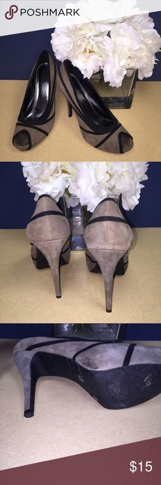 Jessica Simpson Heels Suede like material good condition has wear in each toe area but nothing broke lots of life. Priced to sell Jessica Simpson Shoes Heels