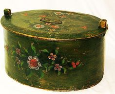 Large Paint Decorated Norwegian Tina, Third Quarter 19th Century from sweetpeacottage on Ruby Lane