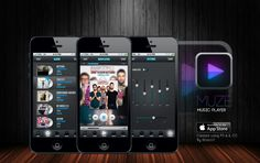 Muze iOS music player design Created using Photoshop CC and Illustrator CC By Stracci7