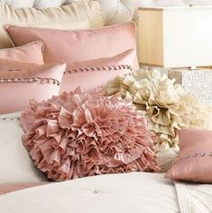 Pastel pink and beige pillows for the master bedroom or living room?