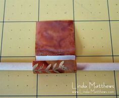 How to make a simple and perfect fabric bead. Use double sided carpet tape or similar.
