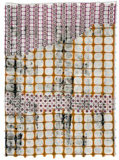 'The Fence As Lace by MA-based American fiber artist Jeanne Williamson. Mixed media on stiffened fabric, 66 x 48 in. via the artist's site Graphic Patterns, Textile Patterns, Print Patterns, Textiles, Textile Artists, Surface Pattern Design, Illustrations, Fiber Art, Natick Massachusetts