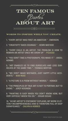 Ten Famous Quotes About Art