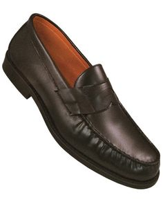 Aris Allen Men's Black Loafer With Hard Leather Sole