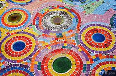 colorful mosaic floor - Google Search