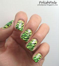 Neon Zebra! I <3 these!!! Cute nails