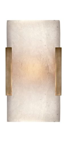 KELLY WEARSTLER | COVER WIDE CLIP BATH SCONCE. Alabaster stone set in Antique Burnished Brass, Polished Nickel or Aged Iron