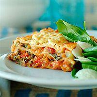 Turkey lasagna with spinach