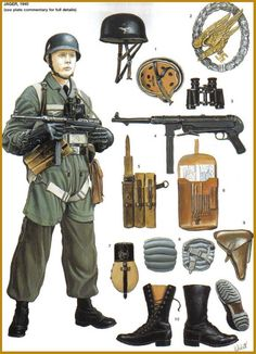 Fallschirmjager (Parachutistes).