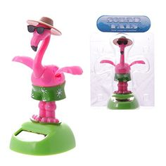 Dancing Flamingo with Sunglasses Solar Pal by Dochsa -- Want to know more, visit