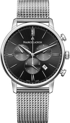 online shopping for Maurice Lacroix Men's 'Eliros' Quartz Stainless Steel Leather Casual Watch, Color:Black (Model: from top store. See new offer for Maurice Lacroix Men's 'Eliros' Quartz Stainless Steel Leather Casual Watch, Color:Black (Model: Casual Watches, Watches For Men, Men's Watches, Dress Watches, Calf Leather, Black Leather, Maurice Lacroix, Herren Chronograph, Thing 1