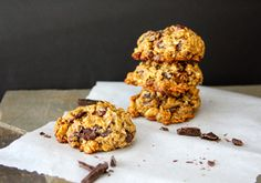 Dark Chocolate/Cranberry Healthy Omega 3 Cookies