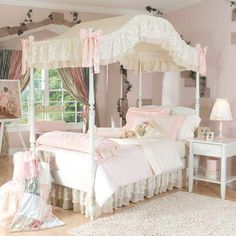 My idea of a pretty little girl's room. The room I always wanted as a kid!