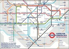 London's independant coffee shops - on the tube map - by ©Chris Ward