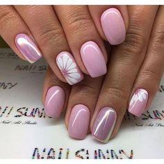 ideas for nails sencillas gelish Flower Nail Designs, Nail Designs Spring, Spring Nail Art, Spring Nails, Summer Nails, Fall Nails, Nail Polish Designs, Nail Art Designs, Nails Design