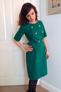 Tilly and the Buttons: The Greensleeves Dress. buttons. for work. sewing pattern dress diy.