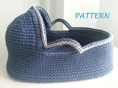 PDF Pattern for Crocheted Baby Moses Basket