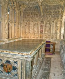 Worcester Cathedral, tomb of Arthur, Prince of Wales, elder son of Henry VII and Elizabeth of York, older brother of Henry (later VIII), first husband of Catherine of Aragon