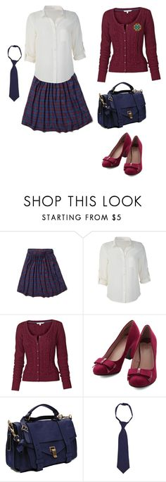 """Ilvermorny Uniform"" by rebellious-ingenue ❤ liked on Polyvore featuring Abercrombie & Fitch, Fat Face, Proenza Schouler and French Toast"