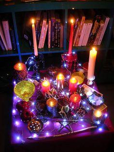 Lights for a yule altar