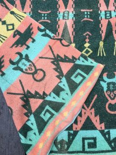 Vintage Cotton Cabin Camp Native American Theme Blanket Reversible  | eBay