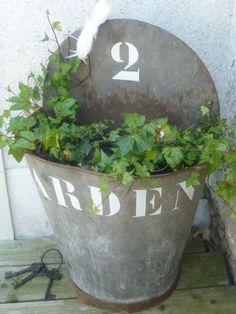 Garden sign zinc ❤❤