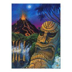 Shop Tiki God Postcard created by danart_man. Hawaiian Art, Hawaiian Tattoo, Hawaiian Tribal, Tiki Tattoo, Maori Tattoos, Tribal Tattoos, Tiki Art, Tiki Tiki, Tiki Totem