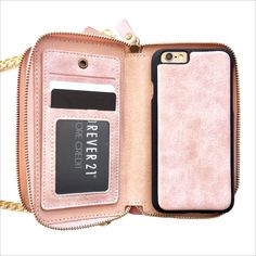 Crossbody Wallet Case in Pastel Pink – mahalocases