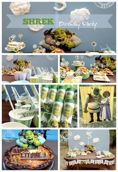 Shrek birthday party - festa di compleanno a tema shrek