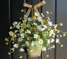 Daisy Bouquet  Summer Wreath
