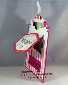 Stampin'Up! Pop up slider gift card holder, side view
