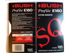 BUSH VHS Video Box coptic journal hand bound in Red 160 plain White pages Retro Note book for anyone who remembers taping off the TV - pinned by pin4etsy.com