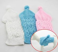 Dog Sweaters Pet Clothes Hand Knitted Knitting Winter Sweater Hoodies 3 Colors