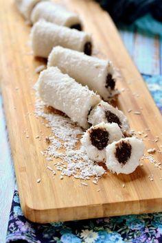 Cocochoco kókuszrúd recept - Kifőztük, online gasztromagazin Chia Puding, Homemade Eggnog, Torte Cake, Eggnog Recipe, Hungarian Recipes, Health Eating, No Bake Treats, Low Sugar, Macaroni And Cheese