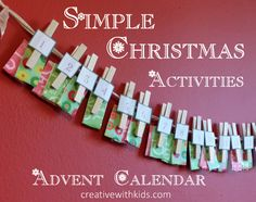 Simple DIY advent calendar with holiday activities