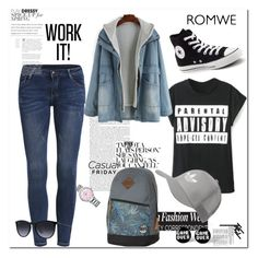 """""""ROMWE"""" by aceboss ❤ liked on Polyvore featuring Element, Converse, adidas Originals, Ray-Ban and Swarovski"""