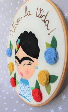 Frida Kahlo feminist gift frida mexican girl power home Fiesta Theme Party, Party Themes, Party Ideas, Frida Kahlo Feminist, Freida Kahlo, Cuadros Diy, Frida Art, Baby Presents, Felt Hearts