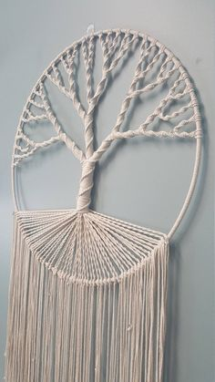 Diy Crafts - Macrame Tree of Life Wall Hanging Macrame Wall Hanging Patterns, Macrame Art, Macrame Design, Macrame Projects, Macrame Knots, Macrame Patterns, Fringe Tree, Macrame Tutorial, String Art