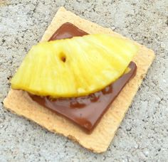 pineapple chocolate and graham cracker smores