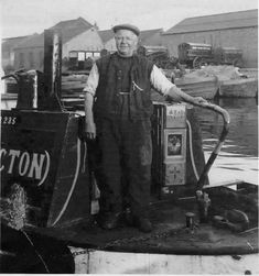 "Captioned: ""Steam canal tug Powerful, owned by Thomas Clayton (Paddington) Ltd"""