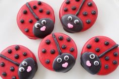 Ladybugs made from chocolate covered oreos