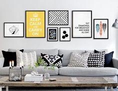 Unique Wall Art Decor Inspiration - Home Page Deco Design, Wall Design, Design Art, Couch Design, Toile Design, Inspiration Wand, Gallery Wall Layout, Gallery Wall Art, Wall Decor Pictures
