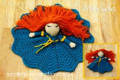 Crochet Princess, Crochet Lovey, Crochet Bebe, Crochet Gifts, Crochet Dolls, Princess Leia, Free Crochet, Crochet Disney, Princesas Disney