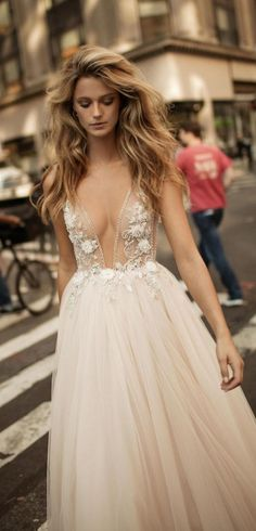 Find Berta Embellished Plunging V-Neck Tulle Gown online. Shop the latest collection of Berta Embellished Plunging V-Neck Tulle Gown from the popular stores - all in one Cheap Bridal Dresses, Cheap Wedding Dresses Online, Long Wedding Dresses, Tulle Wedding, Bridal Gowns, Wedding Gowns, Stunning Wedding Dresses, 2017 Bridal, 2017 Wedding